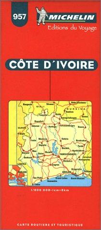 Michelin Ivory Coast Map No. 957 (Michelin Maps & Atlases)