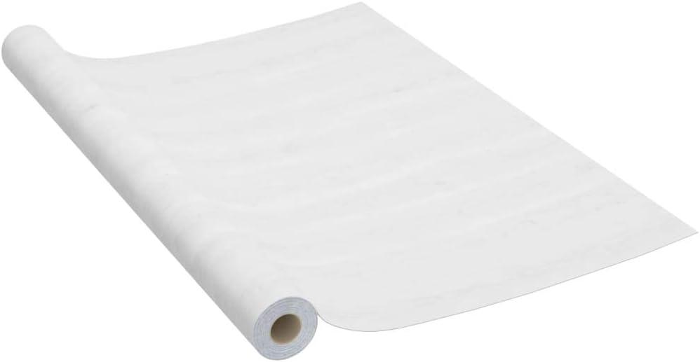 vidaXL Láminas Autoadhesivas Muebles Papeles de Pared Puerta Decoración de Interior Entrada Forrar Ventanas Limpieza Opaco PVC Madera Blanca