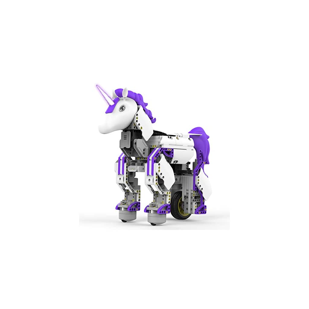 UBTECH JRA0201 JIMU Robot Mythical Series: Unicornbot Kit-App-Enabled Building & Coding Stem Learning Kit, 440Piece, Purple