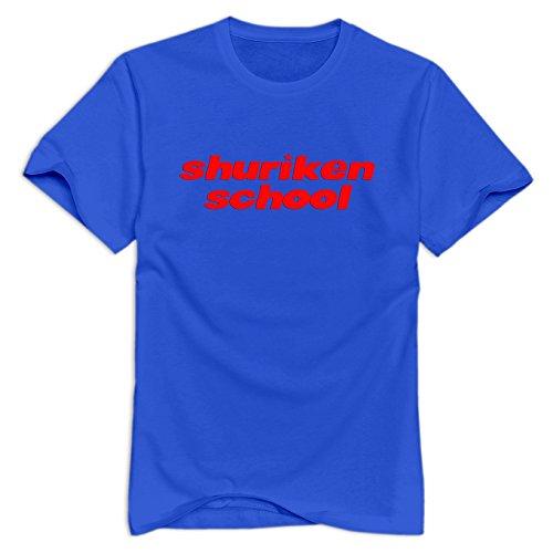 Shuriken School Cool Short Sleeve RoyalBlue T-shirt For Adult Size M