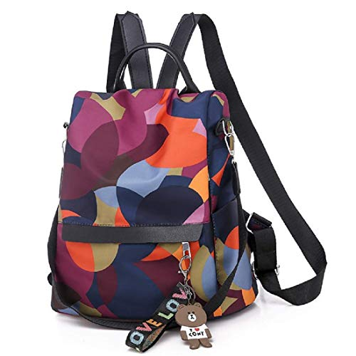 MOCA Women's Nylon Mini Small Anti-Theft Rucksack Travel Backpack (Multicolour)