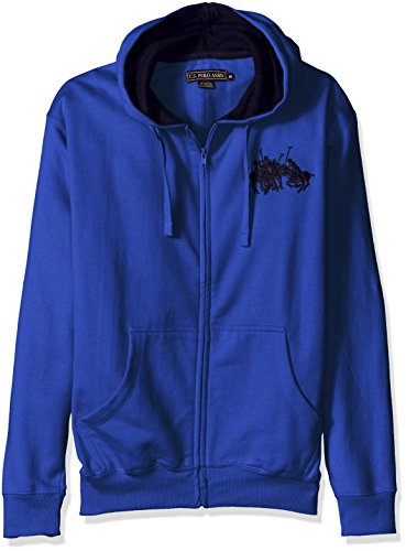 U.S. Polo Assn. Mens Long Sleeve Zip Front Hoody with Team Logo