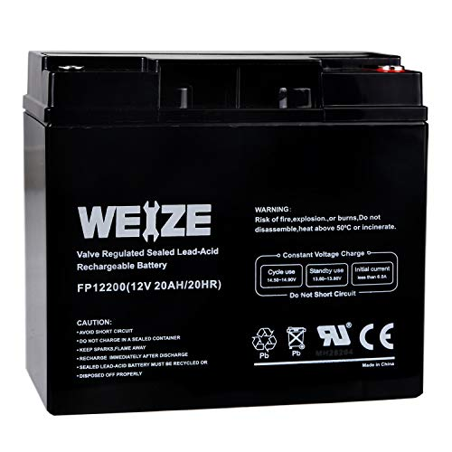 Weize 12V 20AH Lead Acid Battery Replace UB12200 FM12200 6fm20 EXP12200 12V 20AH 22AH Batteries