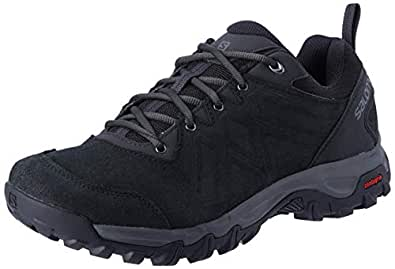 SALOMON Evasion 2 Leather Hiking Shoe, Men's - Black/Black/Quiet Shade(9 UK / 9.5 US)