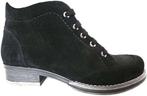 Ogswideshoes Alba Soft Black Suede Boots Extra Wide ,C Width, 3e Width