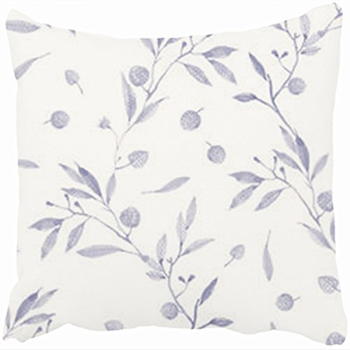Custom Decorative Throw Pillows Covers Watercolor Pine Cones Branch Leaves Watercolor Floral 20 By 20 Inches Pillowcase Design Home Decor Sofa Cushion Pillow Cases