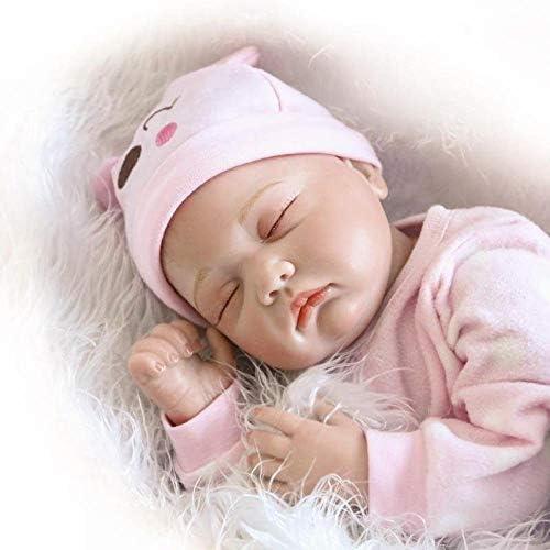 Simulazione Reborn Baby Doll 22 Pollici / 55 cm Giocattolo per Bambini Regalo Arto Silicone Corpo Regalo Regalo Rinascita Bambola,Bambolotti