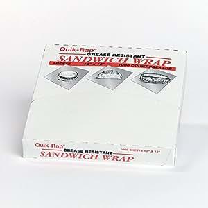 "Quik-rap Sandwich Wraps, 12"" X 12"", 1 Pk. (1,000 Sheets)"