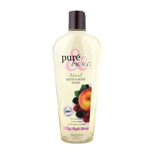 Pure and Basic Natural Bath and Body Wash Fuji Apple Berry - 12 fl - Fuji Berry Basic Apple