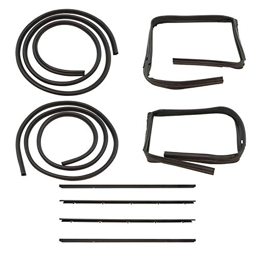 Rubber Door Weatherstrip Seal Kit Set for 83-94 Chevy S10 Blazer GMC S-15 Jimmy