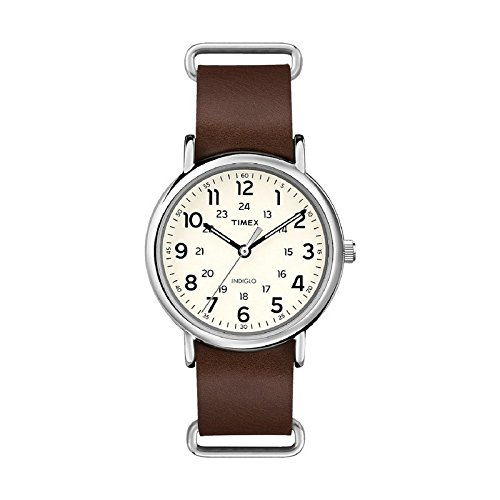 "Timex Unisex ""Weekender"" Watch With Leather Band"