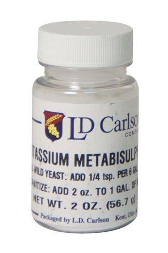 Калия метабисульфит - 2 унции.