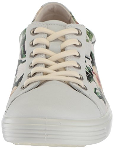 Ladies Donna flower Soft Da Multicolore Ginnastica 7 white Ecco Scarpe Print 1ESRaq