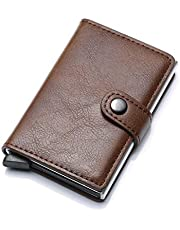anti-theft RFID Wallet Credit Card Wallet Card & ID Cases Purse Money Cash Holder - brown