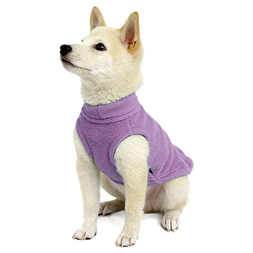 Gooby - Stretch Fleece Vest, Pullover Fleece Vest Jacket Sweater for Dogs, Lavender, X-Small