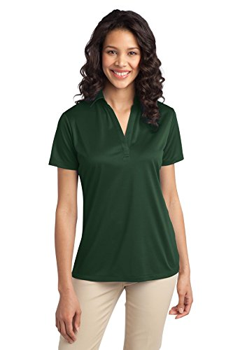 Port Authority Women's Silk Touch Performance Polo XXL Dark Green (Green Womens Polos)
