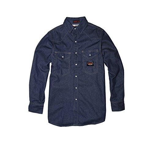 Denim Heavyweight Work Shirt - Rasco FR Blue Denim Heavyweight Shirt with Snaps - 11.5 oz (X-Large-Long)