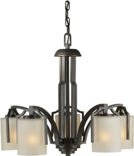 forte-lighting-2275-05-27-hanging-5-light-chandelier-with-umber-mist-glass-shades-black-cherry-finis