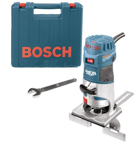 Bosch Colt Palm Grip PR20EVSK 5.6 Amp 1-Horsepower Fixed-Base Variable-Speed Router with Edge Guide (System Router Guide)