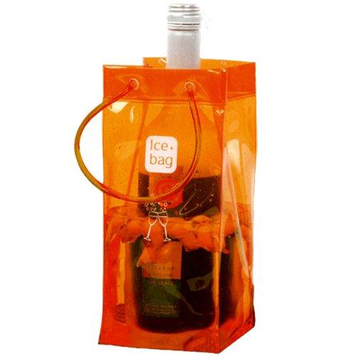 Ice bag Seau a Glace rafraichisseur Sac Porte Bouteille pliable Orange