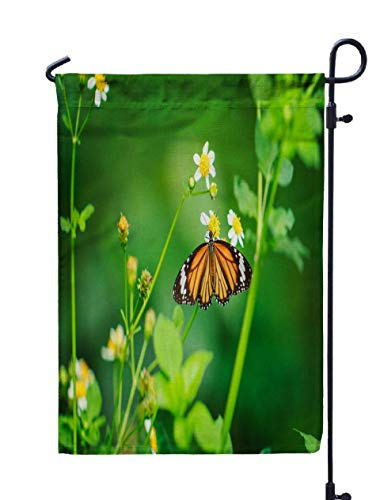 Shorping Welcome Garden Flag, 12x18Inch Butterfly for Holiday and Seasonal Double-Sided Printing Yards Flags]()