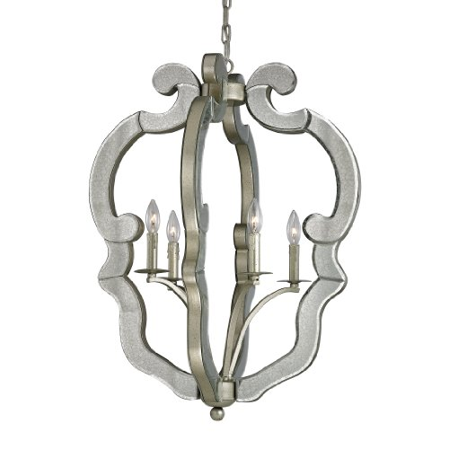Mariana Collection 4 light pendant in Speckled Silver ()