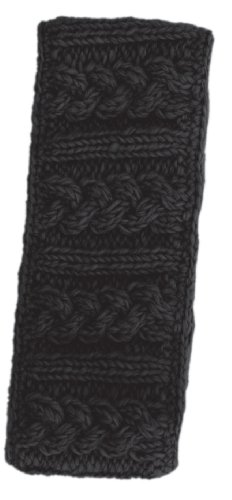 Nirvanna Designs HB03 Cable Headband with Fleece, Black