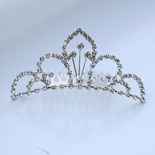 Bridal Wedding Rhinestone Crown Hair Comb (9104)