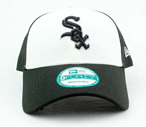 f7b43d02591 Chicago White Sox Hat MLB Authentic New Era The League 9FORTY Velcroback  Cap White Black Baseball