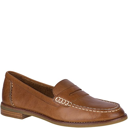 Sperry Top-Sider Women's Seaport Penny Loafer, Tan, 7 M US