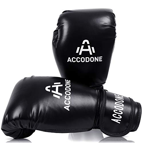 ACCODONE Boxing Gloves for Men and Women, Synthetic Leather Kickboxing Gloves for Sparring, Muay Thai and Heavy Bag…