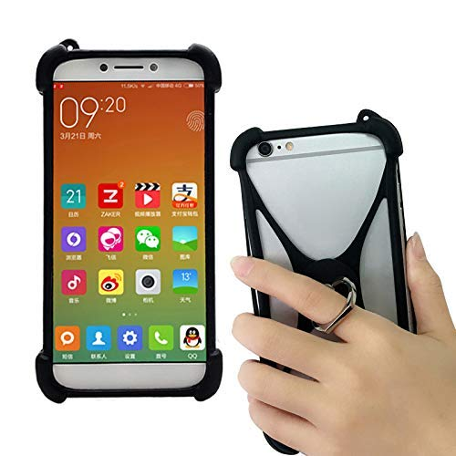 buy online 02d3c 7d71f Universal Phone Ring Holder Case Fit Samsung Galaxy S9 S8 Plus Security  Phone Grip Elastic Silicone Bumper Cover Compatible with Note 9 8 S7 Edge  Size ...