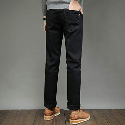 Slim Comodi Regular Neri Nero In Especial Casual Stretch Jeans Fit Estilo Pantaloni Denim Da E Uomo Xa7qPH
