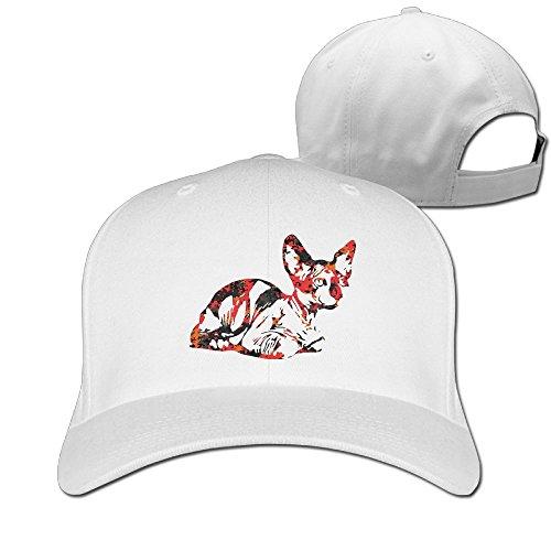 Sphynx Cat Camo Adult Comfortable Baseball Peaked Cap Rapper Hat Baseball (Youth Mid Profile Camo Cap)