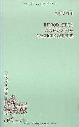 Amazonfr Introduction à La Poésie De Georges Séféris
