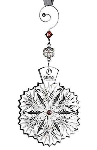 2016 Waterford Snowflake Wishes For Serenity Leana Crystal Christmas Ornament by Waterford