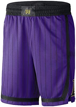 Short en Jersey James Kobe Balls Retro Pourpre Urbain Urban Edition Davis Los Angeles Lakers