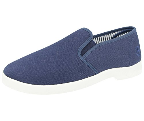 New Mens Dr Keller Canvas Casual Slip On Wide Fit Comfort Bar Deck Trainers Pumps Loafer Flats Shoes - UK Sizes 6-11 Navy ntjV8YQ