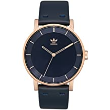 adidas Watches District_L1. Genuine Leather Strap Watch, 20mm Width (Rose Gold/Legend Ink. 40 mm).