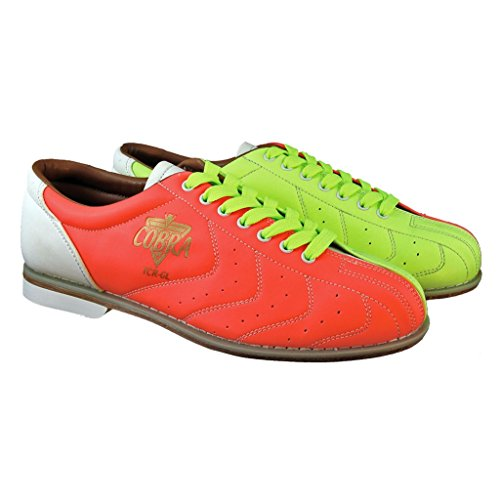 Bowling Yellow Shoe (Bowlerstore Mens Glow TCR-GL Cobra Rental Bowling Shoes- Laces (10 M US, Neon Yellow/Orange/White))