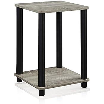 furinno 99800gywbk french oak turnntube end table grey