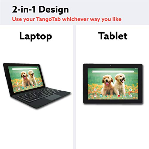 2 Bonus Item Simbans TangoTab 10 Inch Tablet + Keyboard 2-in-1 Laptop | 2GB RAM, 32GB Disk, Android 8.1 Oreo | Mini-HDMI, Micro-USB, USB-A, Inbuilt GPS, Dual WiFi, Bluetooth Computer PC