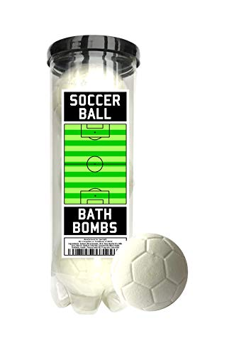 Soccer Ball Bath Bombs - 3 pack - Soccer Gifts - Luxury Scented Bath Bomb Fizzies - Great Gift for Soccer players, Teammates, Opponents, Soccer Clubs and Leagues, Birthdays, Men, Boys, Women, Girls