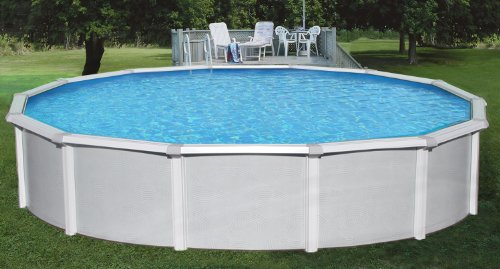 Samoan 18ft Round 52in Steel Above Ground Pool with Free Chemical Sample Kit