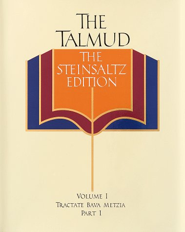 The Talmud, The Steinsaltz Edition, Vol. 1: Tractate Bava Metzia, Part 1