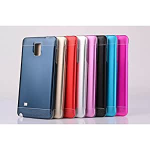 ZXC Special Design High Quality Metal Back Cover for Samsung Galaxy NOTE 4 (Assorted Colors) , Red
