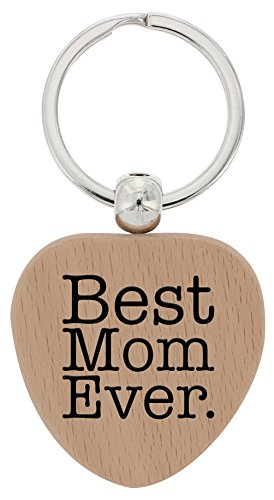 Mothers Gifts Best Heart Keychain