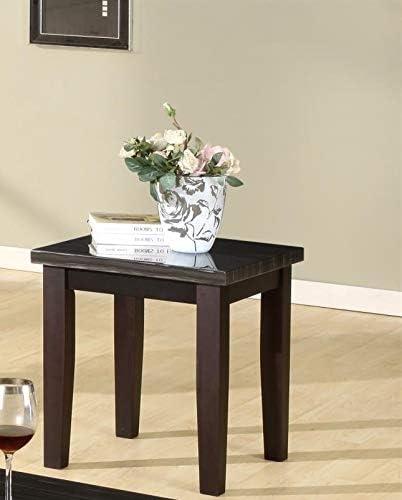 GTU Furntiure 3Pc Black Faux Marble Rectangular Top Living Room Coffee /& End Table Set