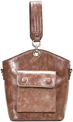 YQE Schulter Umhängetasche Damen Taschen Totes Solid Color PU Damen Taschen Bucket Bags, Khaki