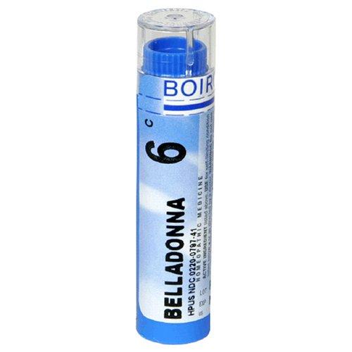 Boiron remède homéopathique Belladonna, Granules 6C, 80-Count Tube (Pack de 5)